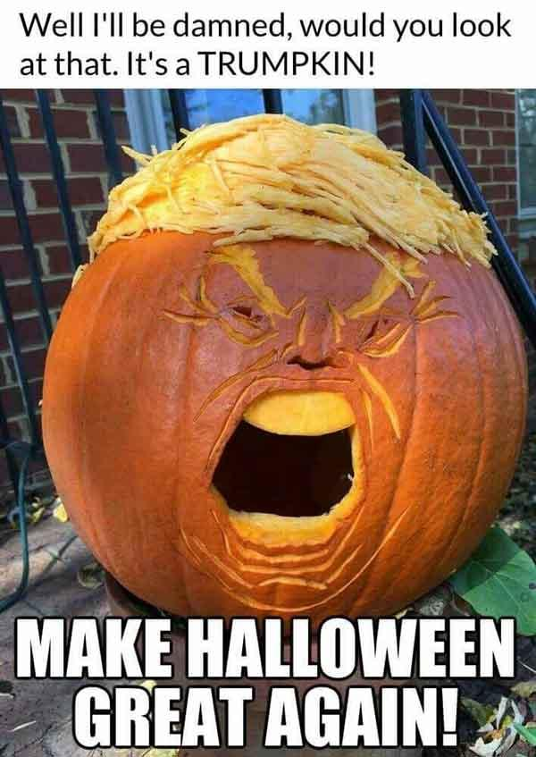 trump halloween meme