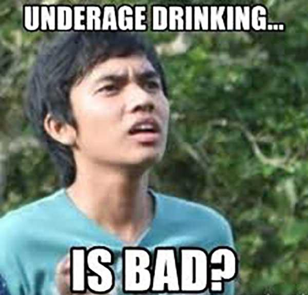 underage drinking meme