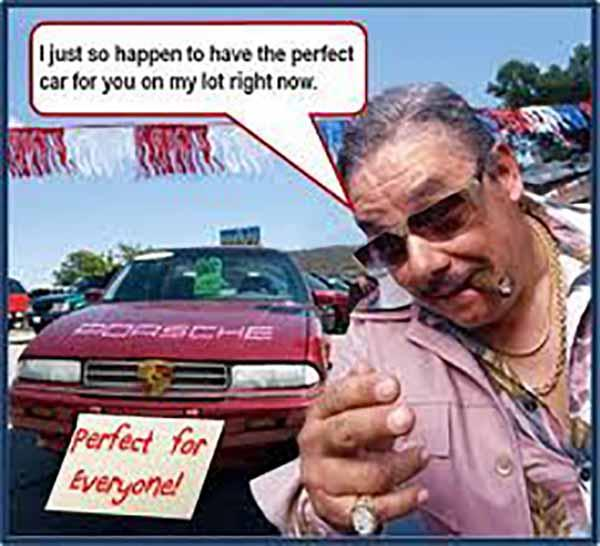 used car salesman images
