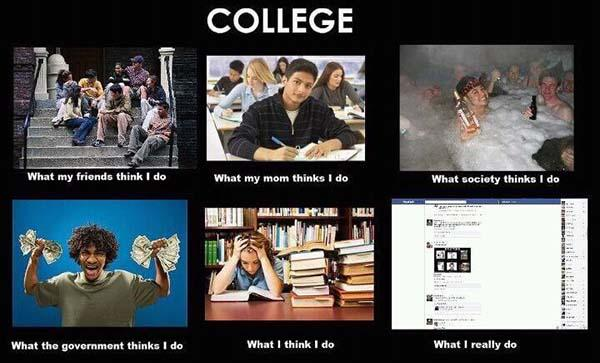 what i actually do meme college