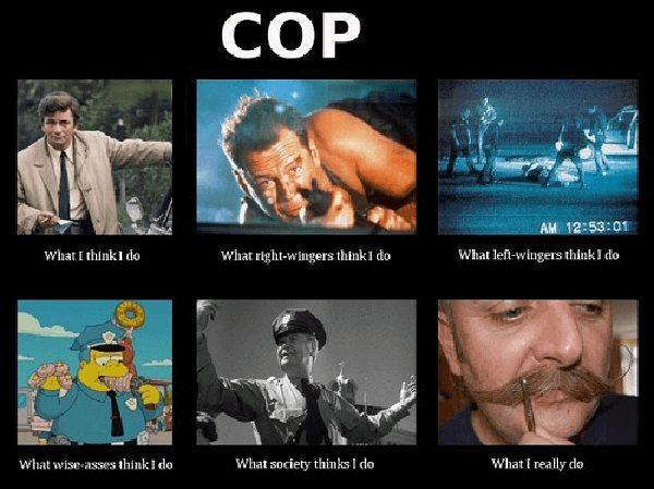 what i actually do meme cop