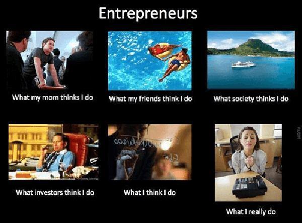 what i actually do meme entrepreneur