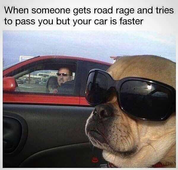 when someone gets road rage... car meme