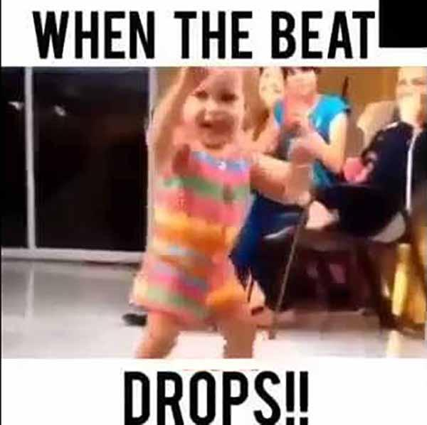 when the beat drop - dancing baby meme