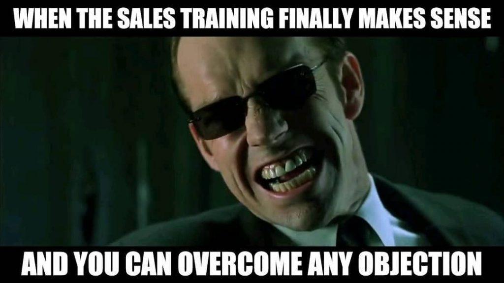 when the sales training finally makes sense... car salesman meme