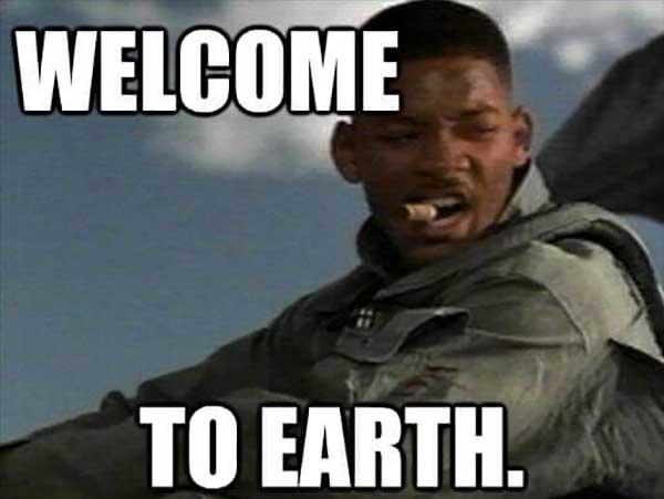will smith welcome to earth meme