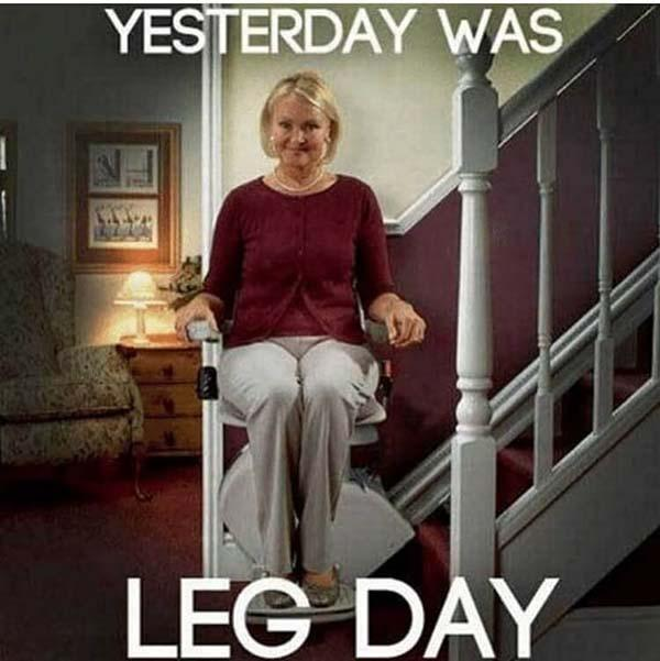 yesterday was leg day