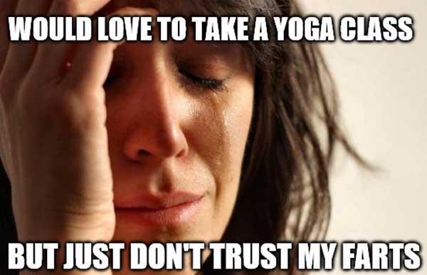 yoga fart meme