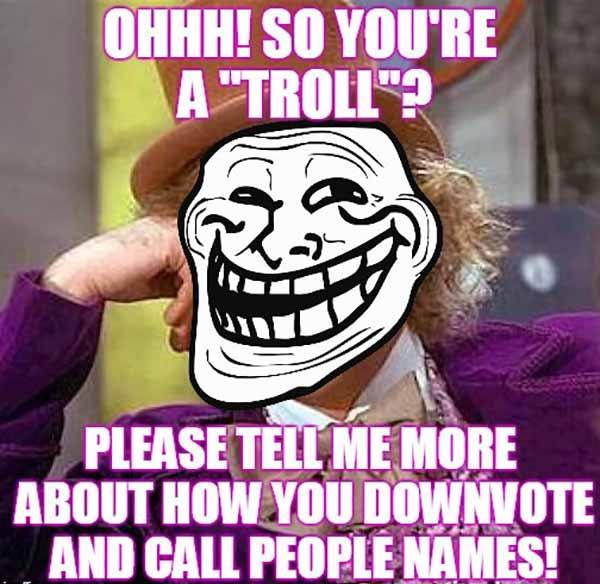 you're a troll meme