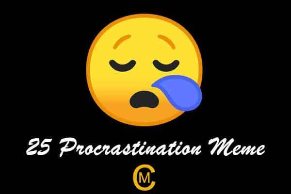 25 Procrastination Meme