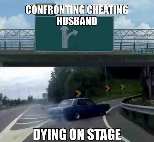 Confronting cheating husband