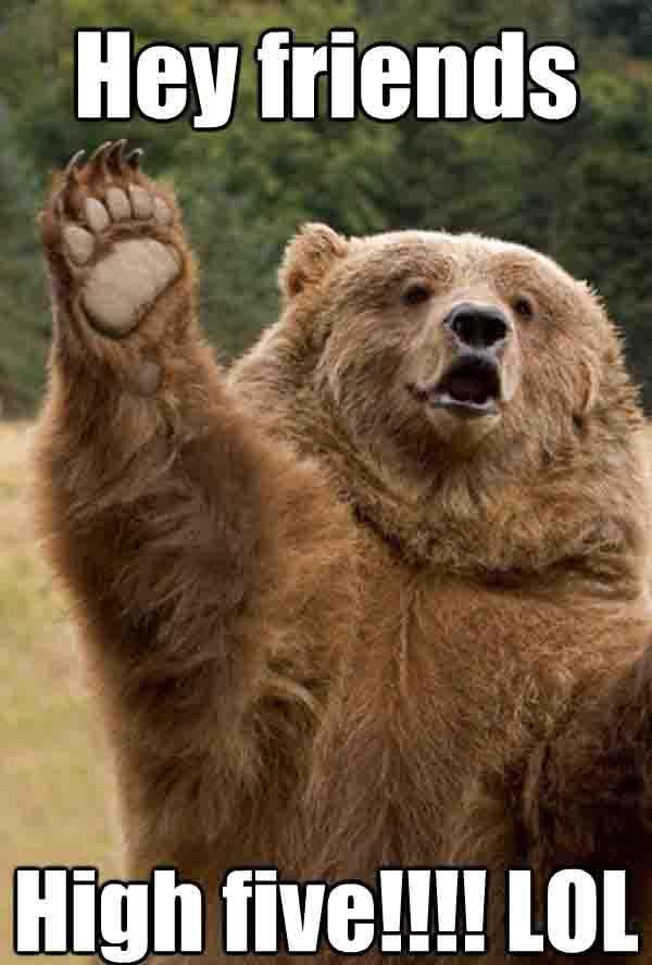 Teddy Bear meme High Five
