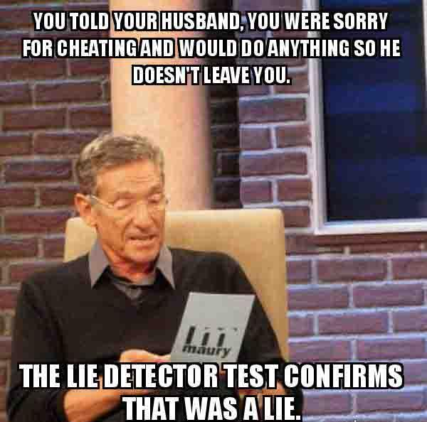 You told your husband, you were sorry for cheating - cheating wife meme