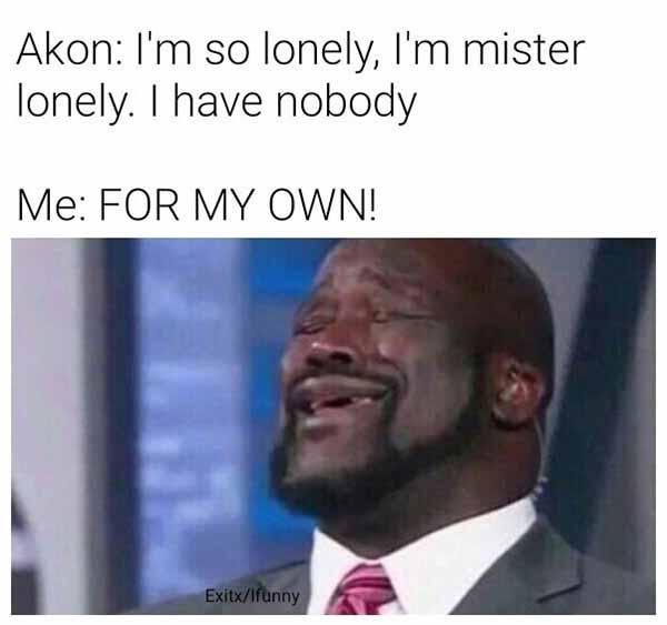 akon i'm so lonely meme