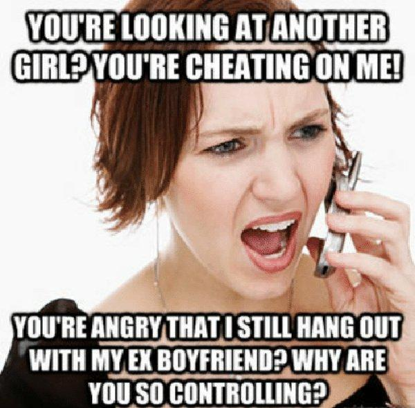 annoying cheating girlfriend meme