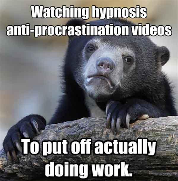 anti procrastination meme