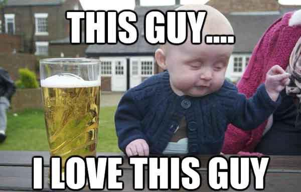 baby beer meme