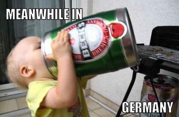 baby drinking beer meme
