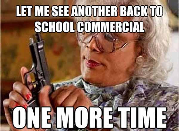 back to school commercial meme