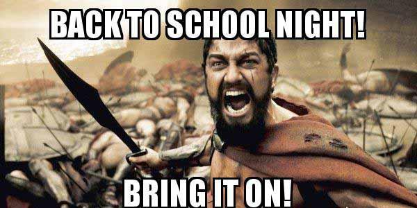 back to school night meme