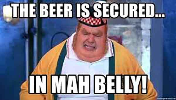 beer belly meme