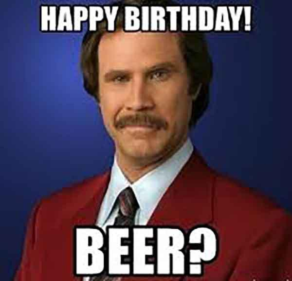 beer birthday meme
