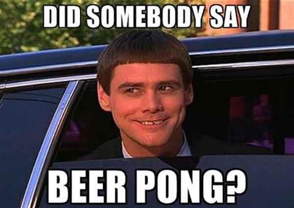 beer pong meme