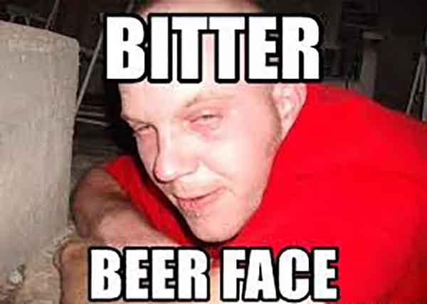 bitter beer face meme