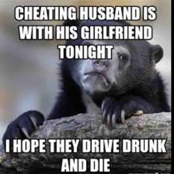 cheating husband is with his girlfriend...