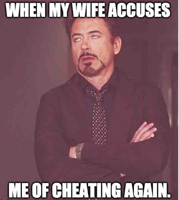 cheating husband meme