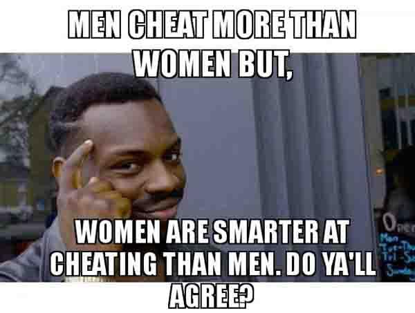 cheating men meme