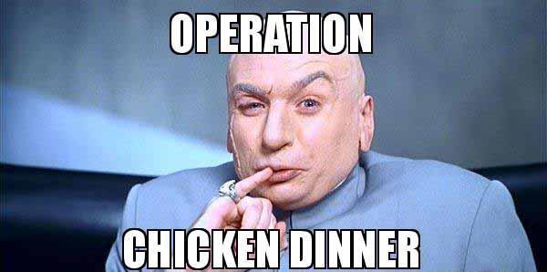 chicken dinner meme
