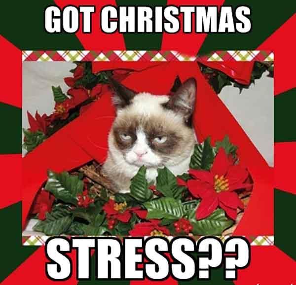 christmas stress meme