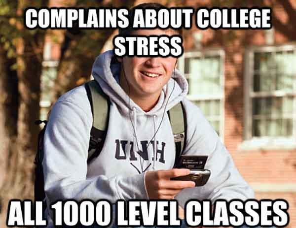 college stress meme