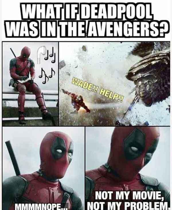 deadpool avengers meme
