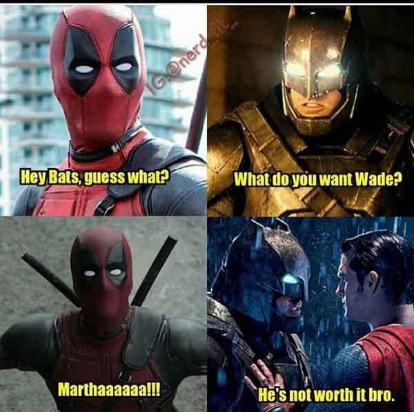deadpool batman meme