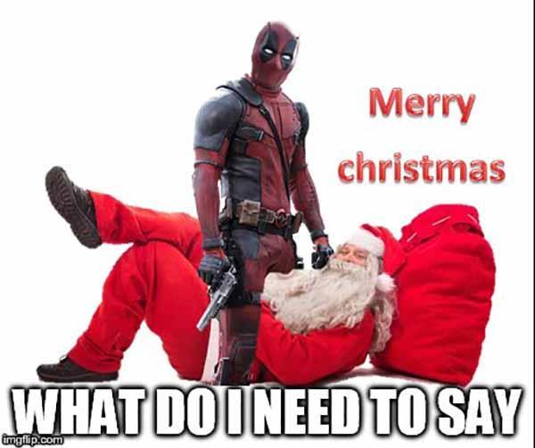 deadpool christmas meme