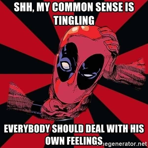 deadpool common sense meme