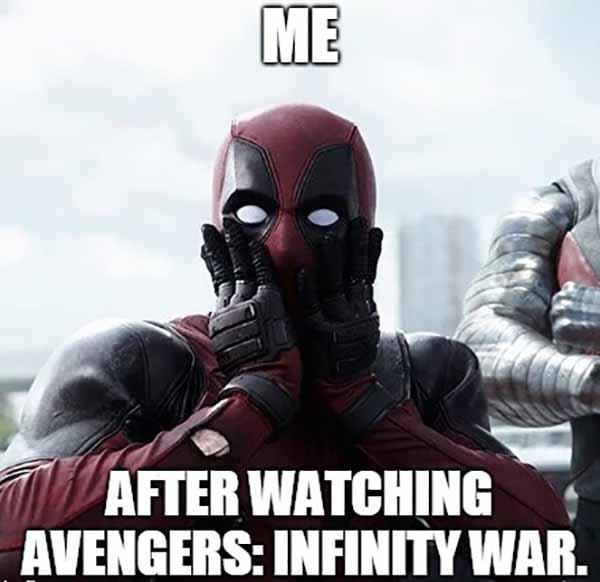 deadpool infinity war meme
