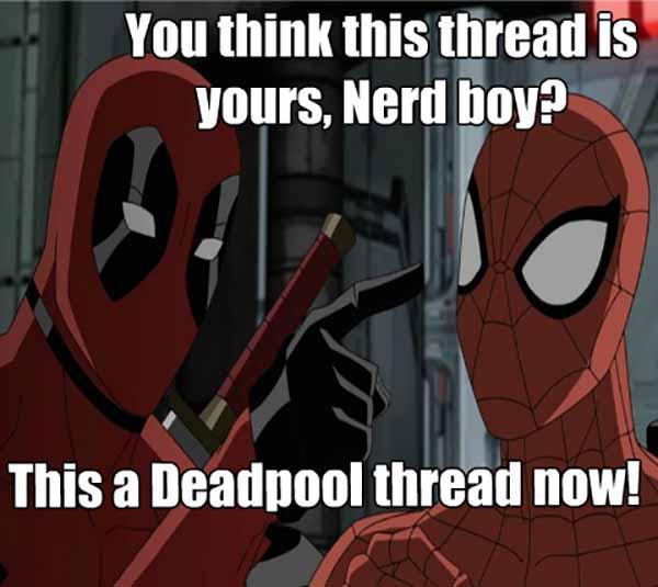 deadpool spiderman meme