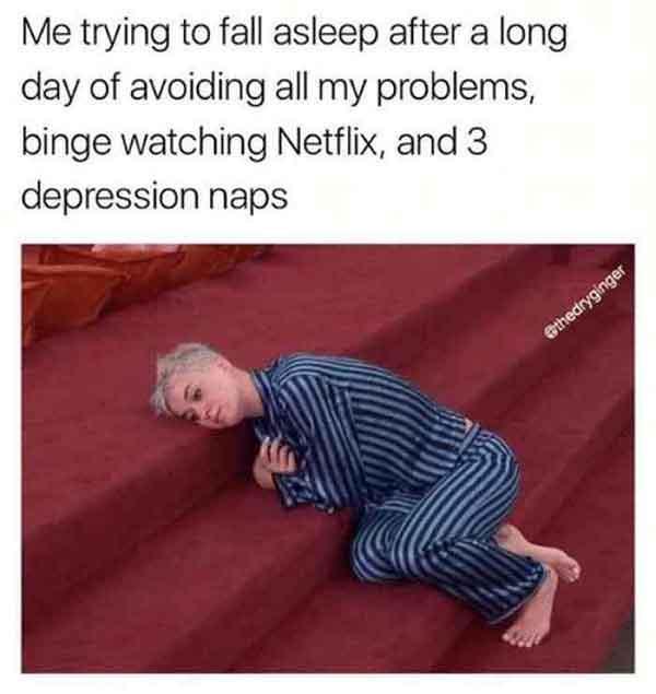 depression nap meme