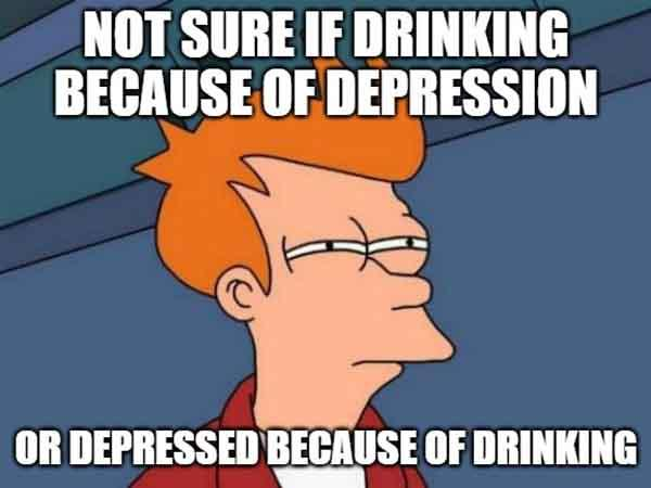 drinking depression meme