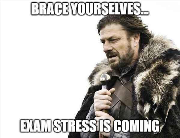 exam stress meme