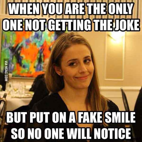 fake smile meme