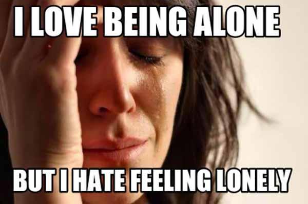 feeling lonely meme