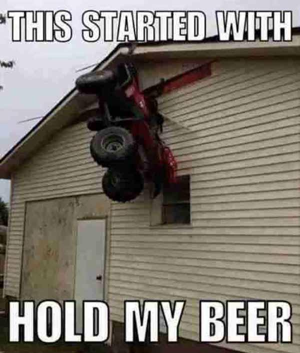 funny hold my beer meme