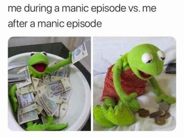 funny manic depression meme