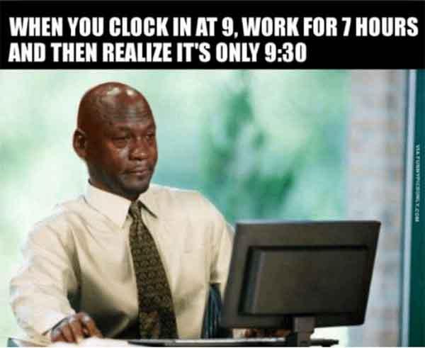 funny work stress meme