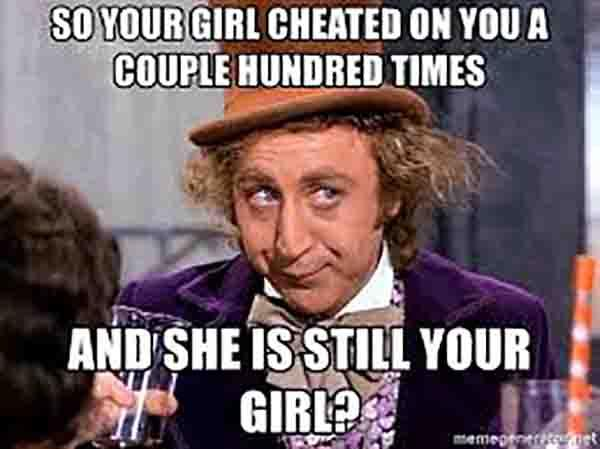 girl cheating meme