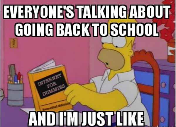 going back to school meme